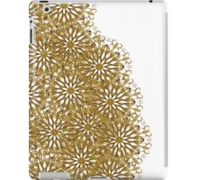 Abstract elegant gold white floral pattern iPad Case/Skin