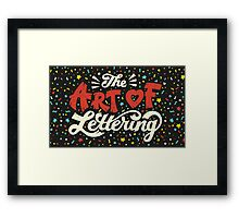 The Art of Lettering Framed Print