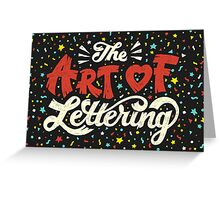 The Art of Lettering Greeting Card