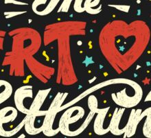 The Art of Lettering Sticker
