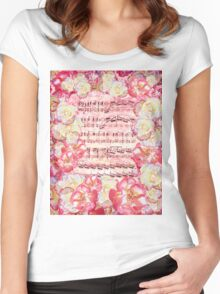 Waltz Of The Flowers Sweet Roses Women's Fitted Scoop T-Shirt