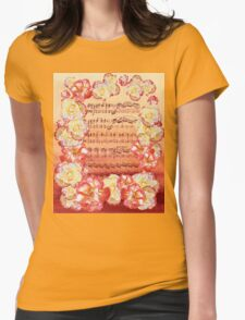 Waltz Of The Flowers Dancing Roses Womens Fitted T-Shirt