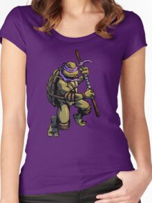 Turtle Power DON Women's Fitted Scoop T-Shirt