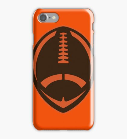 Vector Football - Brown iPhone Case/Skin