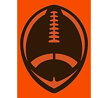 Vector Football - Brown Photographic Print