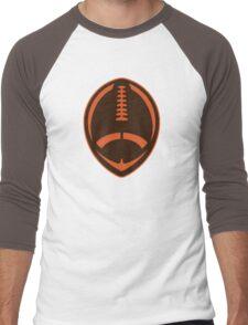 Vector Football - Brown Men's Baseball ¾ T-Shirt