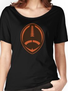 Vector Football - Brown Women's Relaxed Fit T-Shirt