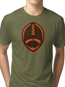 Vector Football - Brown Tri-blend T-Shirt