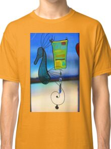 Glass Seahorse In a Window Classic T-Shirt
