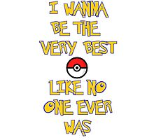 Pokemon Theme Photographic Print