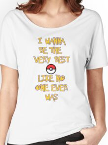 Pokemon Theme Women's Relaxed Fit T-Shirt
