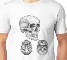 Skull multi view Unisex T-Shirt