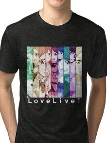 Love Live! Maki Rin Hanayo Honoka Kotori Eri Umi Nozomi Nico anime manga shirt Tri-blend T-Shirt