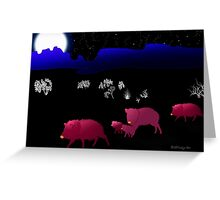 They Walk By Night Greeting Card