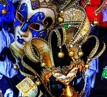 Venetian Carnival Masks by Tom Gomez