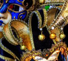 Venetian Carnival Masks Sticker
