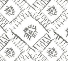 Aztec ornamental grey pic Sticker