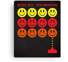 Smile Invaders Gaming Quote Canvas Print