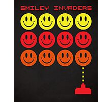 Smile Invaders Gaming Quote Photographic Print