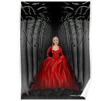 Emma Swan Running Through A Dark Forest  Poster