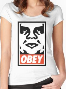 OBEY..... Women's Fitted Scoop T-Shirt