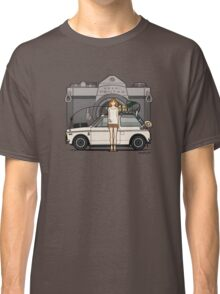 Honda N600 Rally Kei Car With Japanese 60's Asahi Pentax Commercial Girl Classic T-Shirt