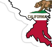 California flag Maryland outline Sticker