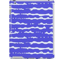 blue wave pattern iPad Case/Skin