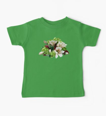 Asiatic Lilies, Hydrangea and Berries Baby Tee