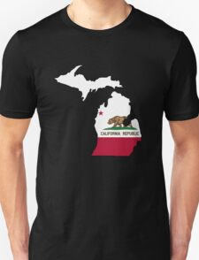 California flag Michigan outline T-Shirt