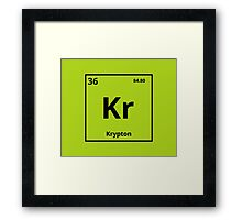 Element Krypton (Kryptonite) Framed Print