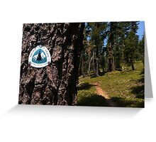 Pacific Crest Trail marker Greeting Card