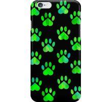 Green Paw Pattern iPhone Case/Skin
