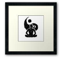 Meditated Peace - Ebony Framed Print