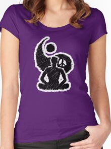 Meditated Peace - Ebony Women's Fitted Scoop T-Shirt
