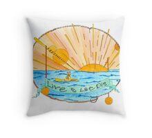 yellow submareenie Throw Pillow