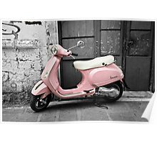 Pink Scooter Poster