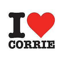 I love Corrie Photographic Print