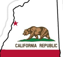 California flag New Hampshire outline Sticker