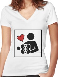 Companion For Life Women's Fitted V-Neck T-Shirt