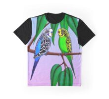 Budgies in the Gumtree Graphic T-Shirt