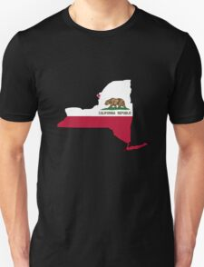 California flag New York outline Unisex T-Shirt