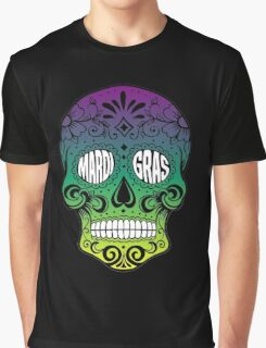 Mardi Gras Skull Graphic T-Shirt