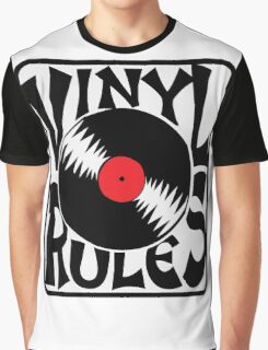 Vinyl Rules Music Quotes Graphic T-Shirt