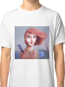 Pretty Girl And Her Bird Classic T-Shirt