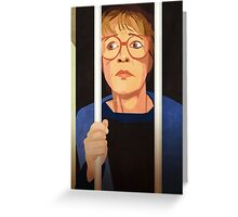 Deirdre Barlow Free the Wetherfield one Greeting Card