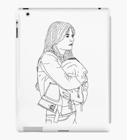 Emma Holding Baby Neal (Once Upon A Time) iPad Case/Skin