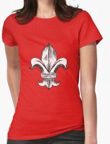 Fleur-De-Lis Womens Fitted T-Shirt