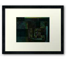 City Abstract Dark Blue / Marble Framed Print