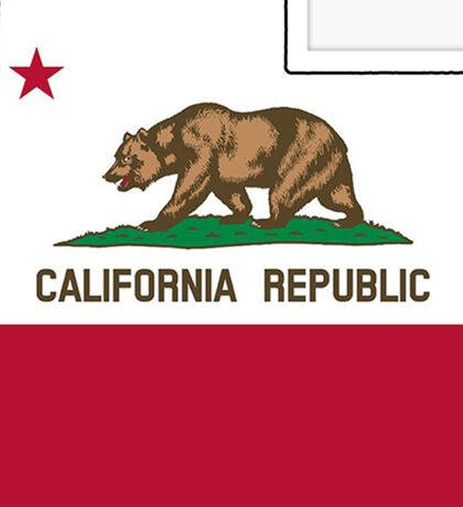 California flag Utah outline Sticker